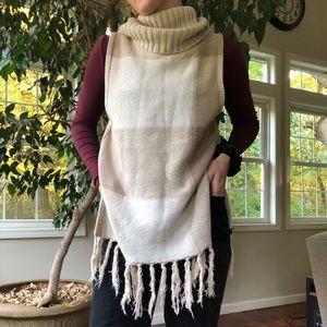 Sleeveless Turtleneck Fall Sweater